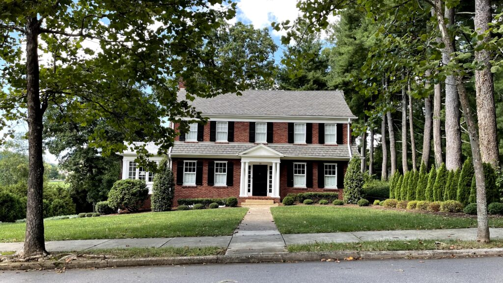 Traditional home in Grove Park, Asheville, NC